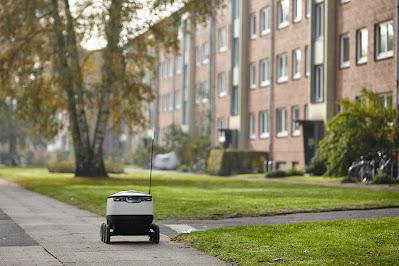 Starship Roboter im Hermes Praxis-Test in Hamburg.