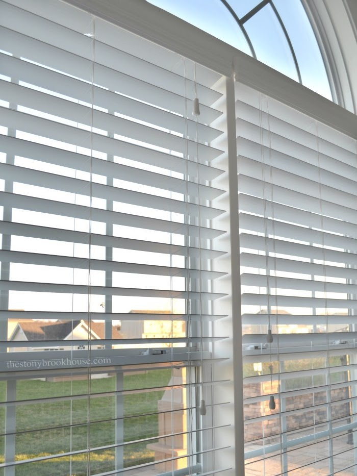 Faux Wood Blinds with cords