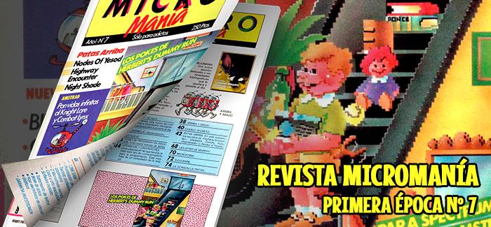 Revista Micromanía Primera época Número 7 1985