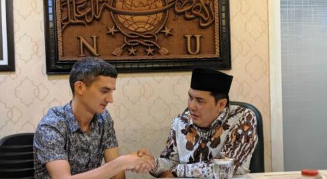 Ivan Mykhailov, Warga Negara Ukraina Masuk Islam di PBNU