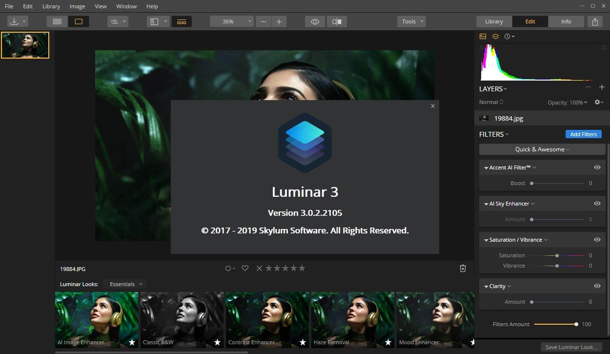 تحميل برنامج رائع لتحرير الصورLuminar 3.1.1.3269