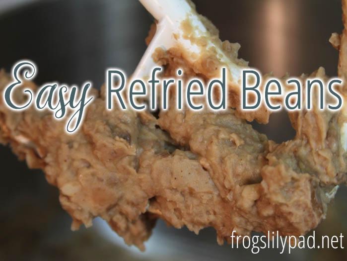 Easy Refried Beans - Nothing but beans, spices, and butter