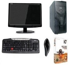 Amazing Deal: DESKTOP PC Full System with 15″ LCD & New Core 2 Duo, 2GB RAM /160 GB HDD for Rs.9799 @ Shopclues