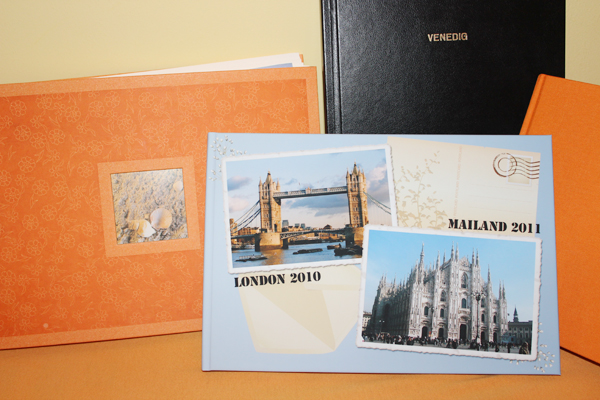 Reise-Schnappschüsse in Fotobüchern