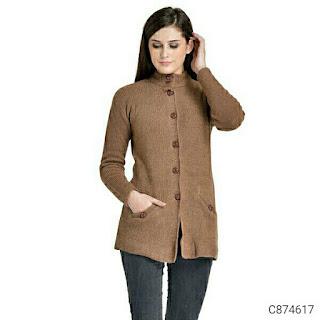 Women's Woolen Blend Solid Sweaters