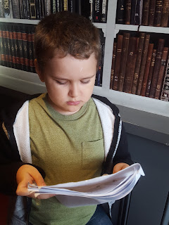 Dan Jon Jr reading a Script