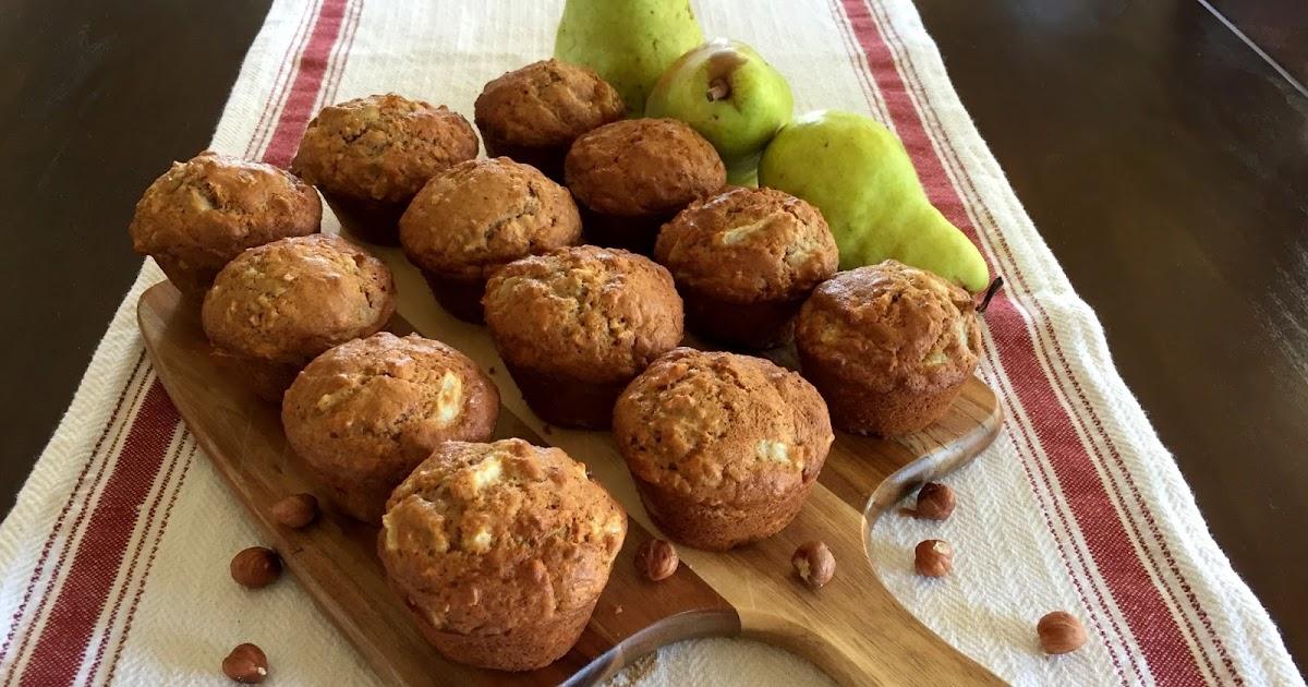 Mennonite Girls Can Cook: Pear Hazelnut Muffins