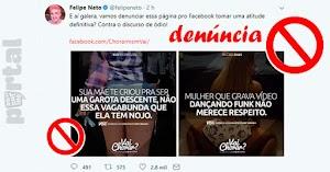 Página de discurso de ódio no Facebook é denunciada, pelo Youtuber Felipe Neto, e retirada do ar em seguida