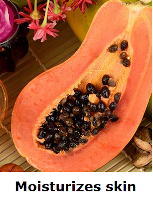 Health Benefits of Papaya - Paw paw Moisturizes skin