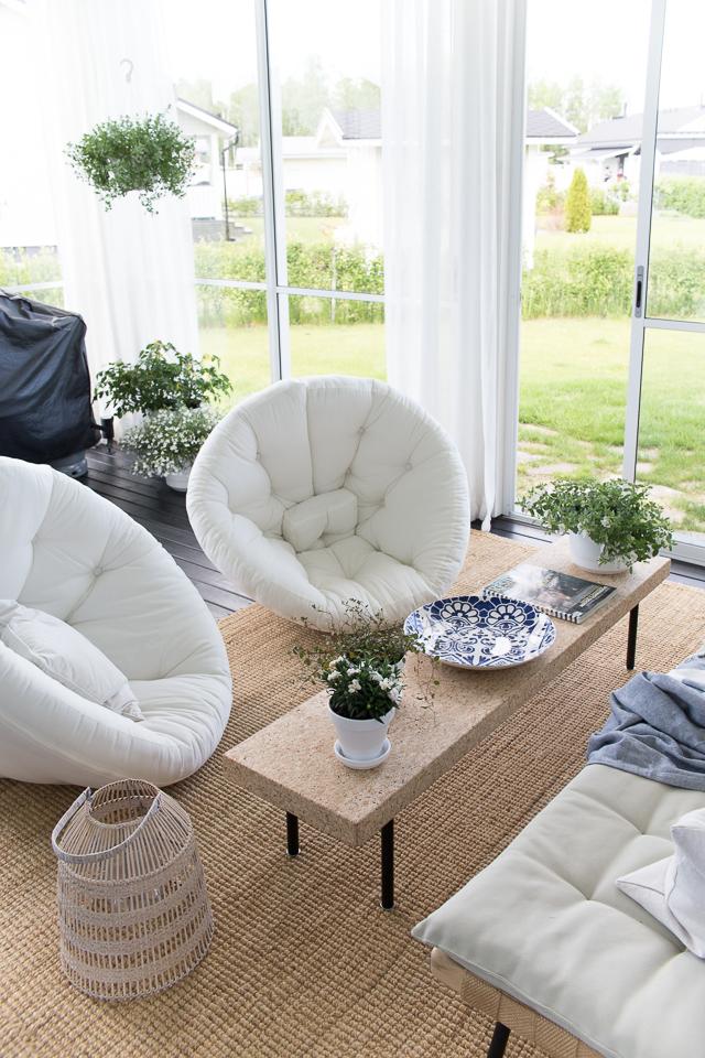 Karup Design, Villa H, lasitetun terassin sisustus, kodin sisustus