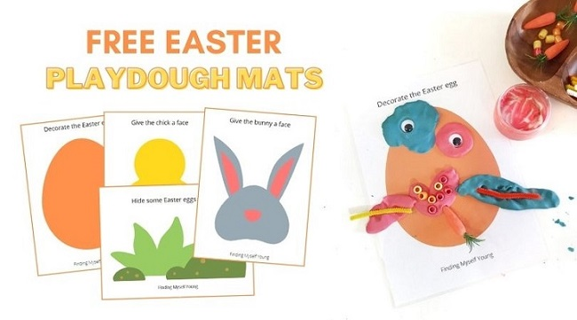 finding myself young free easter playdough printables