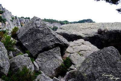 Montículo de rocas desde donde se puede apreciar la Laguna completa y su entorno.