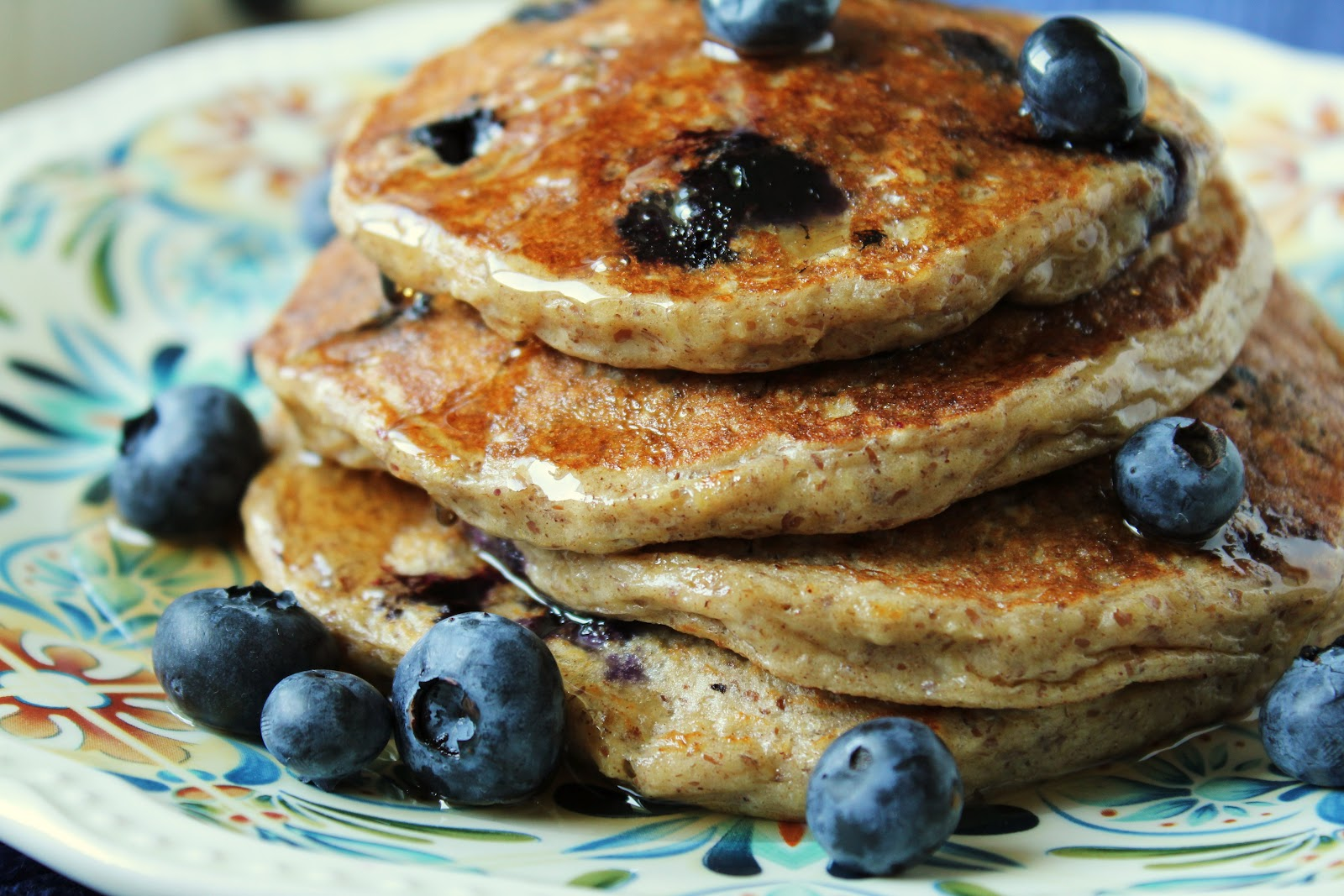 Oatmeal Cottage Cheese Pancakes With Blueberries {Wheat Free, Gluten Free,  Low