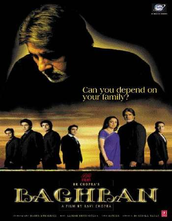 Poster Of Baghban 2003 Hindi 550MB BRRip 720p ESubs HEVC Watch Online Free Download Worldfree4u