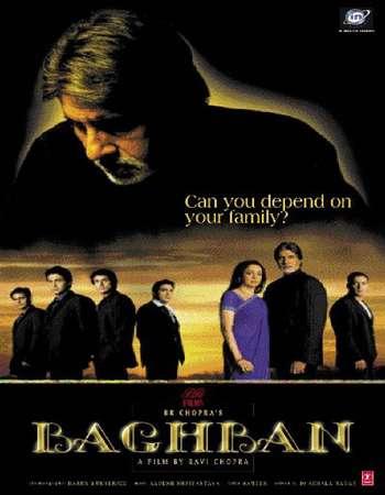 Poster Of Baghban 2003 Hindi 550MB BRRip 720p ESubs HEVC Watch Online Free Download Worldfree4u