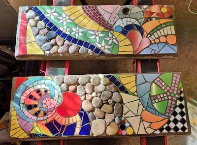 Trittsteine aus Mosaik
