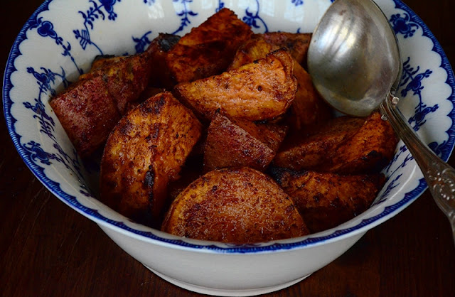 Sumac Roasted Sweet Potatoes