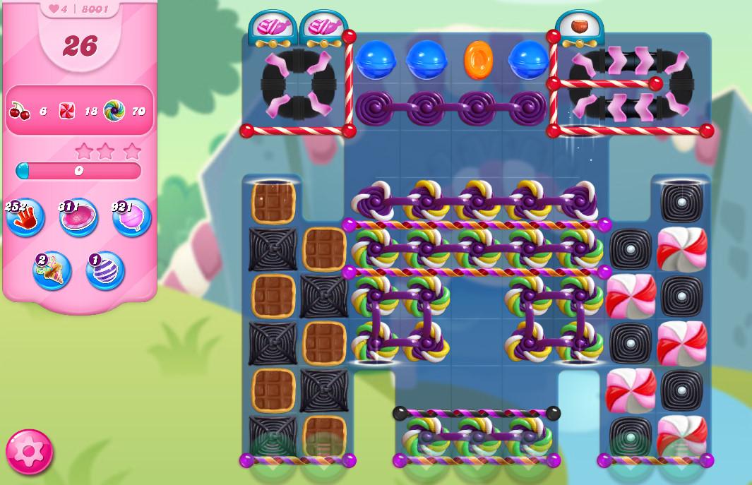 Candy Crush Saga level 8001