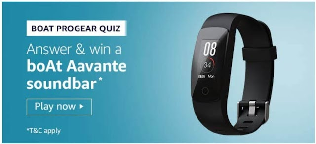 Amazon Quiz: Boat ProGear smartband has a Heart rate sensor.