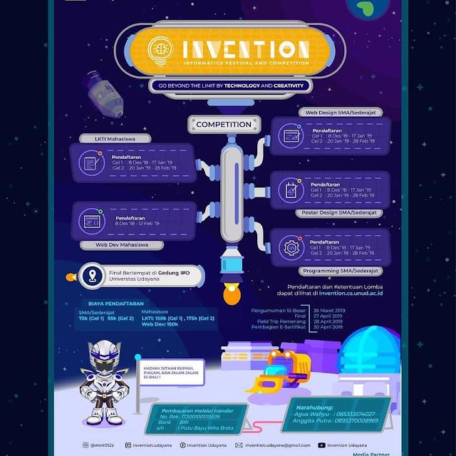 Multi Event Informatic Festival Invention 2019 Pelajar Mahasiswa