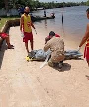 Corpo de homem encontrado boiando no rio em Barreirinhas-Ma.