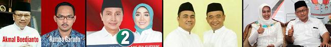 Empat pasang calon walikota dan wakil walikota Mojokerto 2018