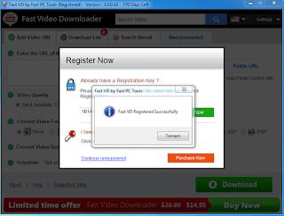 Fast Video Downloader Full registration key lizenzschlüssel Key Serial Seriennummer Lisans Anahtari Ürün Anahtari Activation Code full 2018