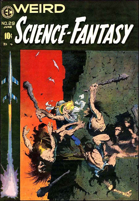 Weird Science-Fantasy v1 #29 ec comic book cover art by Frank Frazetta