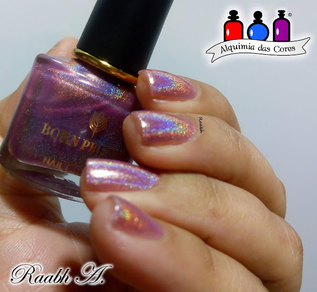 Born Pretty, Born Pretty BP-LSH 07 Modern Love, esmalte solar, Esmalte Holográfico, rosa, roxo, Raabh A. 2019,