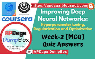 Improving Deep Neural Networks Week-2 (MCQ)