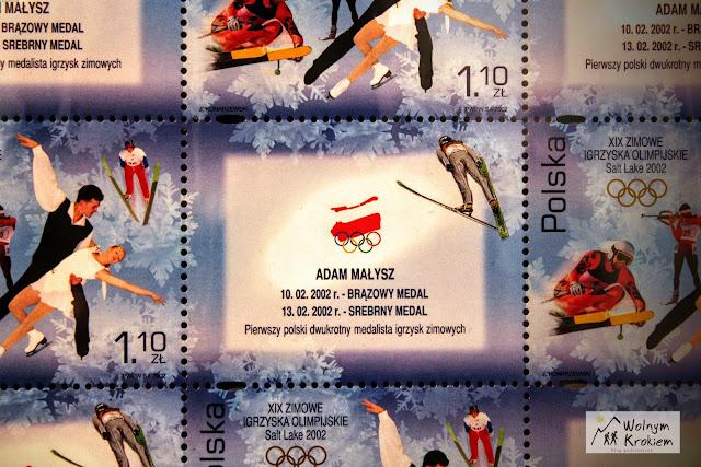 Adam Małysz - znaczek pocztowy