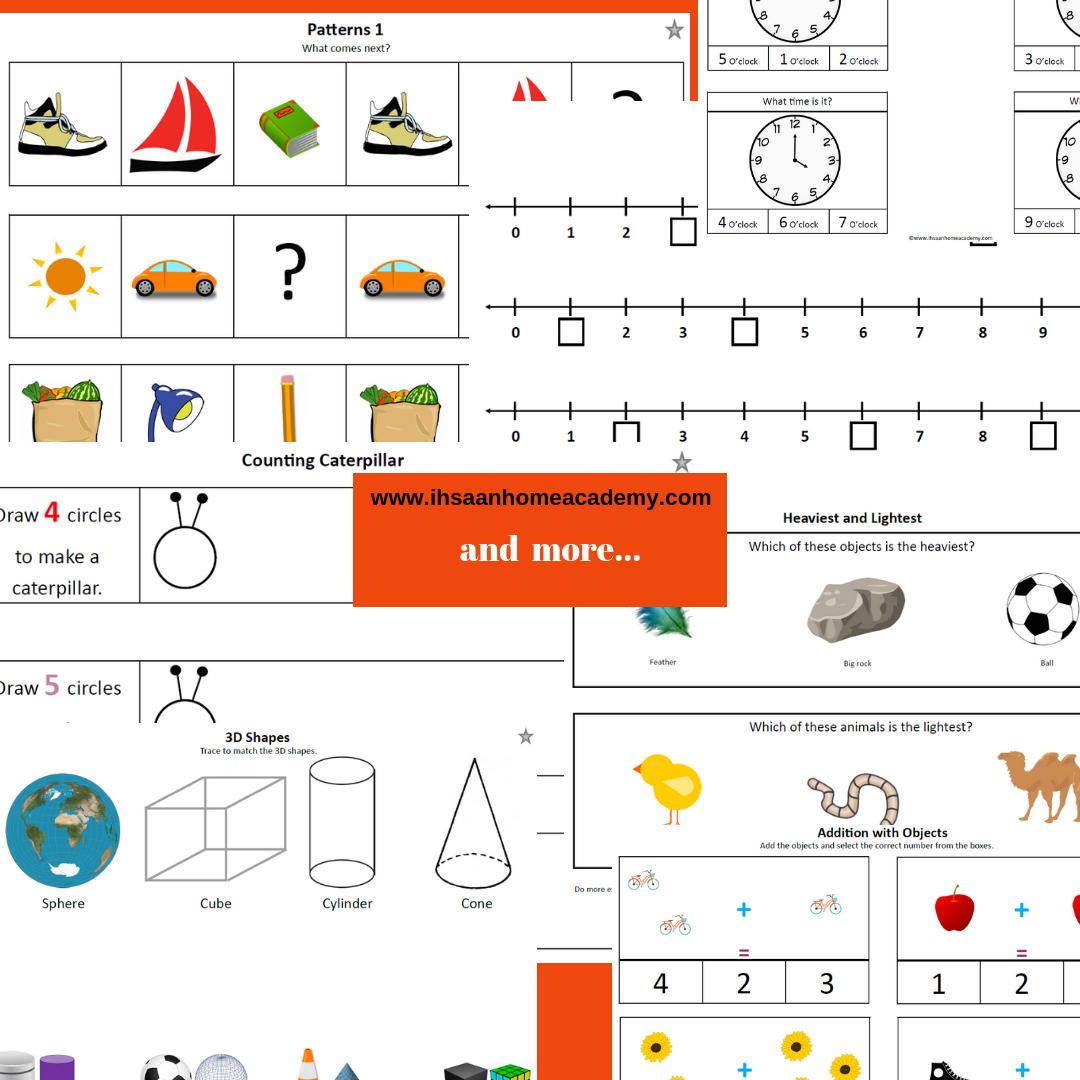 Kindergarten Math And Logic Curriculum No Prep Ihsaan Home Diagram Shapes Product Description