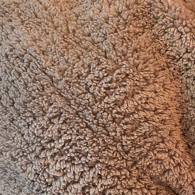 Close-up photo of VOLO Hero Hair Towel's plush microfiber pile fabric