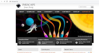 utorial cara download software Inkscape gratis untuk desain vektor di PC/Laptop dan cara install