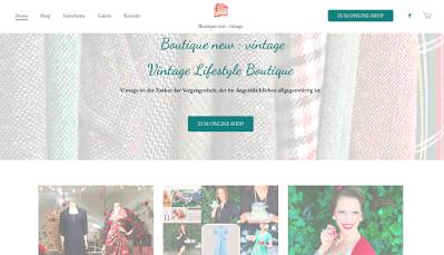 homepage_boutique_new_vintage_onlineshop_brodtischgasse_16_gudrun_bluemel_dolly_and_dotty_theseamstressofbloomsbury_bild_von_auslage_bild_von_schoener_frau_mit_kuchen_cooking_fairy_profil_von_instagram