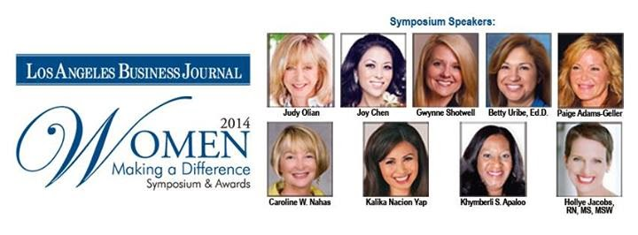 Mary Cummins receives Los Angeles Business Journal Women Making a Difference award.