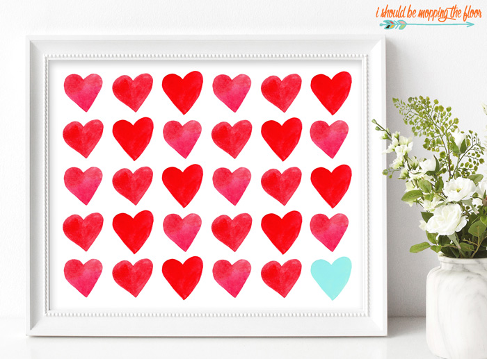 picture relating to Printable Valentines Hearts identify Valentines Center Printable i need to be mopping the surface