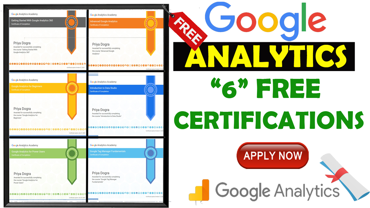 Google Analytics Academy Courses 2021 with Free Certificates from Google