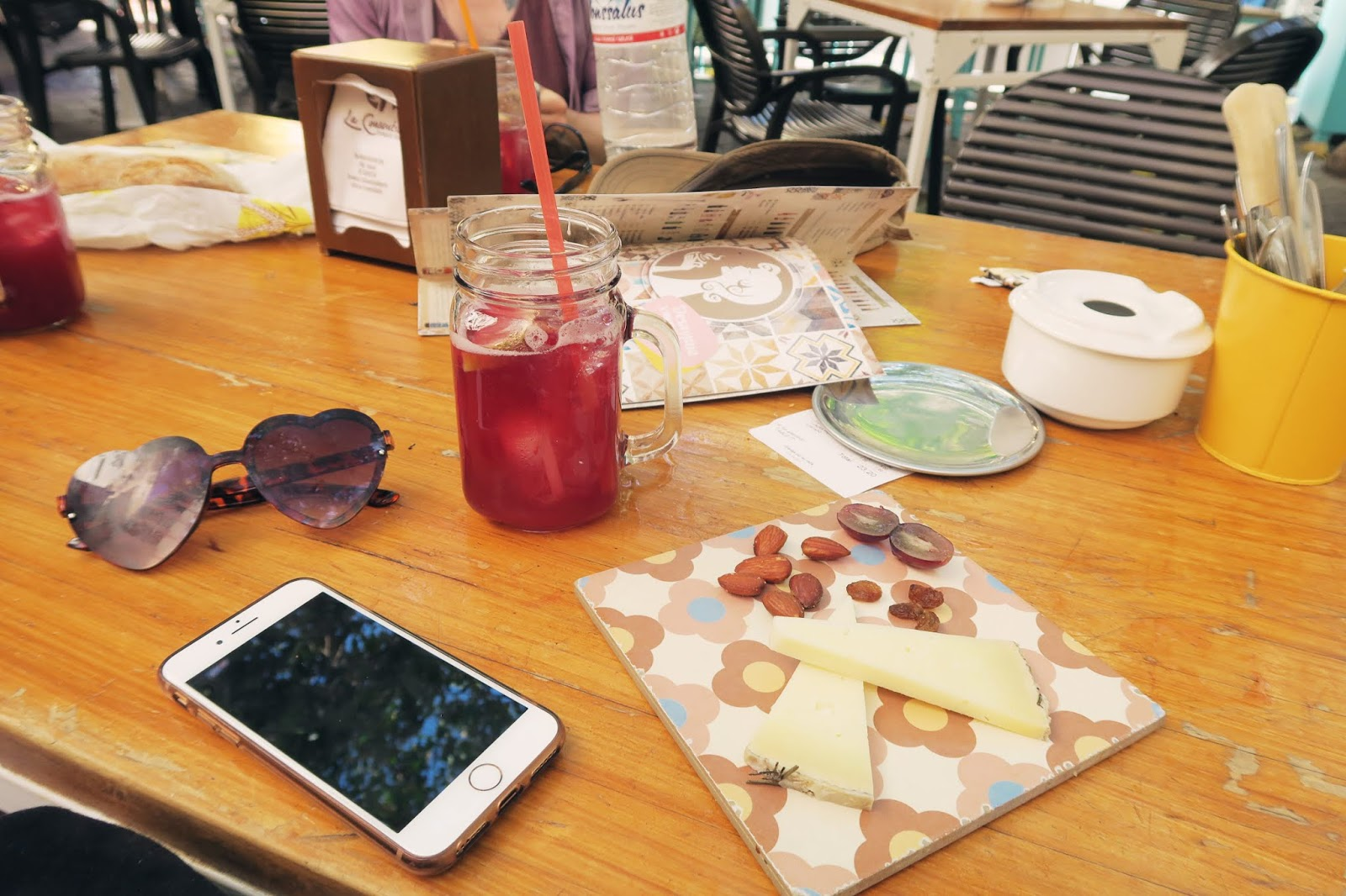 Tapas with a glass of Sangria