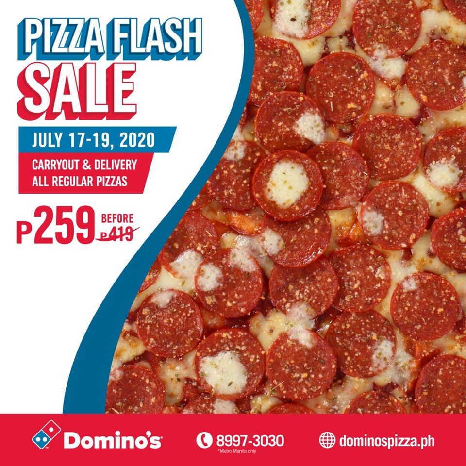 Manila Shopper Domino S Pizza Flash Sale July 2020