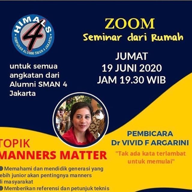 vivid argarini Himals sma 4 Jakarta manners matter