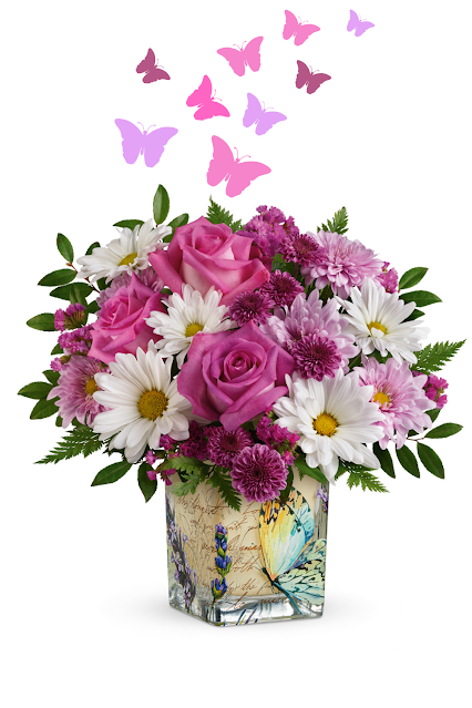 Mothers Day Butterfly Flowers