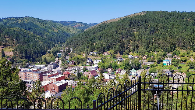 Deadwood nestled among the hills of South Dakota...
