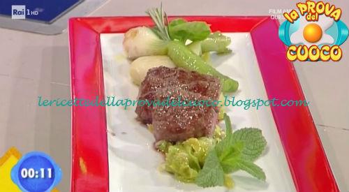 Cubotti di manzo con cipollotti in agrodolce ricetta Fava da Prova del Cuoco