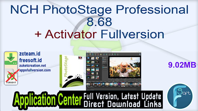 NCH PhotoStage Professional 8.68 + Activator Fullversion