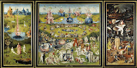 The Garden of Earthly Delights, created between 1503-1515 by Hieronymus Bosh who was a Netherlandish painter from Brabant.