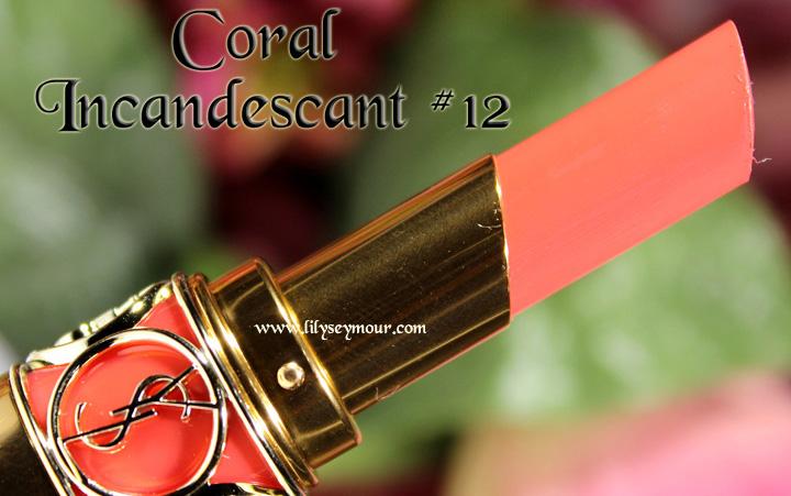 YSL Coral Incandescant #12 Lipstick
