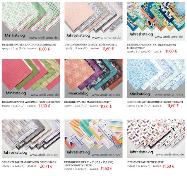 Stampin Up Designerpapiere 15 % reduziert