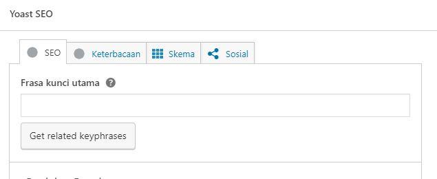 cara seting yoas pada postingan wordpress
