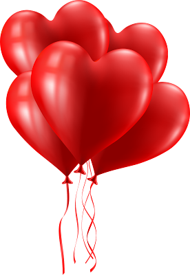 red heart balloon png images bday